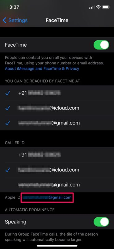 How to Change Apple ID for FaceTime on iPhone & iPad