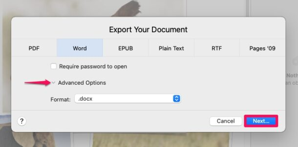 How to Convert Pages to Word on Mac