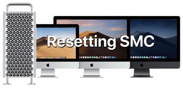 To reset SMC on iMac Pro, Mac Pro, Mac mini, iMac with security chips