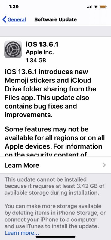iOS 13.6.1 download