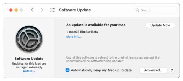 MacOS Big Sur beta download