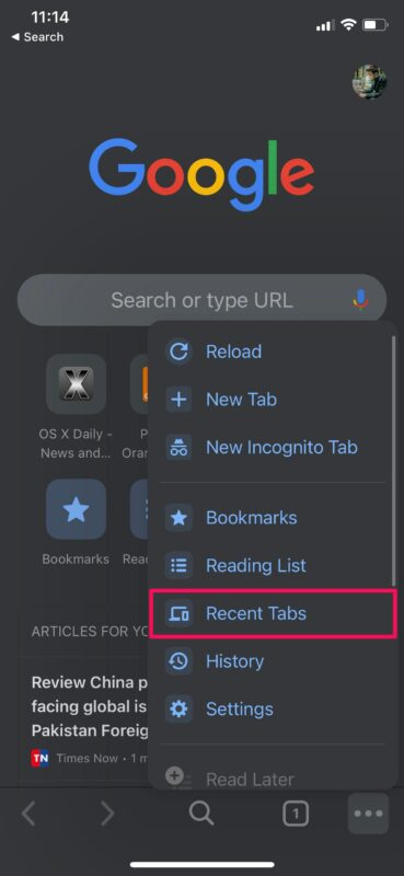How to Reopen Closed Tabs in Chrome on iPhone, iPad, Mac
