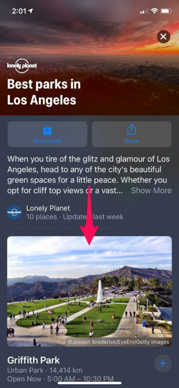 How to Use Guides in Apple Maps on iPhone
