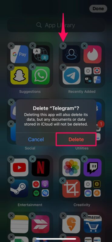 How to Move and Delete Apps from App Library