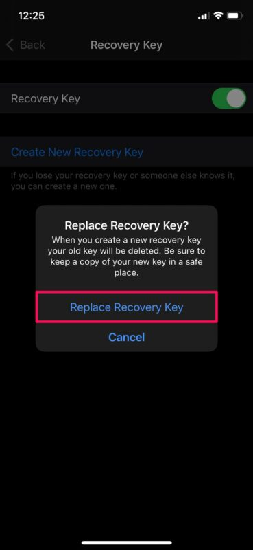 How to Replace Lost Recovery Key on iPhone