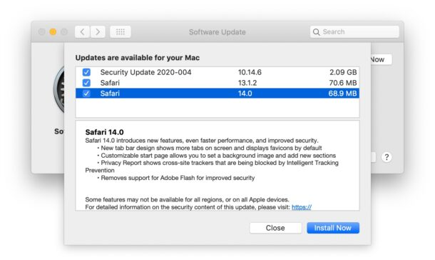 Safari 14 for Mac
