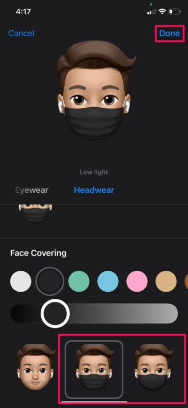 How to Add Face Mask to Your Memoji on iPhone