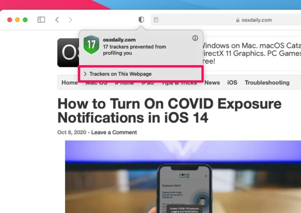 How to Check Privacy Report for Websites in Safari on Mac