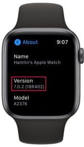 How to Check watchOS version on Apple Watch