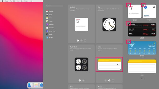 How to Customize Widgets in Notification Center on MacOS Big Sur & Monterey