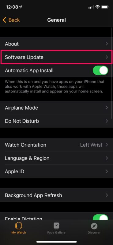 How to Disable Automatic Updates for Apple Watch