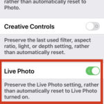 How to turn off Live Photos completely