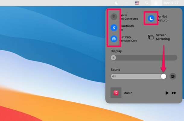 How to Use Control Center on MacOS