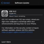 iOS 14.2 GM downloading update