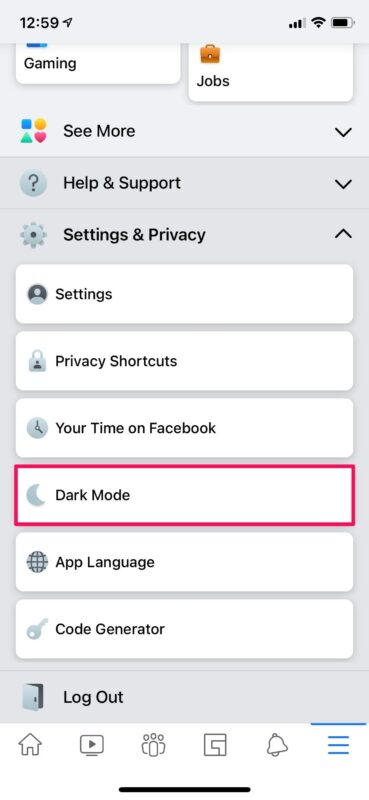 How to Enable Facebook Dark Mode on iPhone