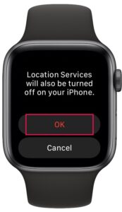 How to Disable Location Services on Apple Watch