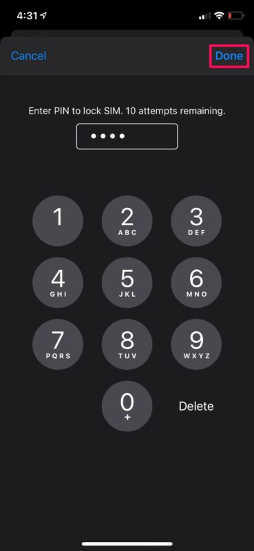 How to Lock SIM Card with PIN on iPhone