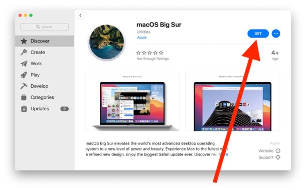 Get macOS Big Sur from the Mac App Store