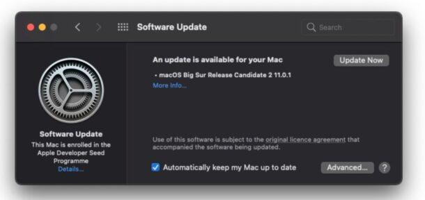 macOS Big Sur RC 2