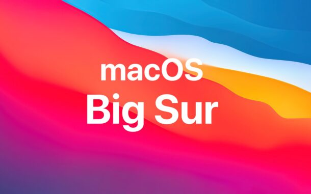 macOS Big Sur updates