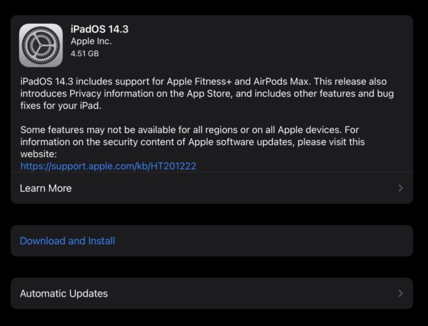 iOS 14.3 and iPadOS 14.3 download