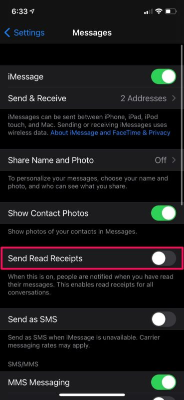 Troubleshooting Read Receipts in iMessage