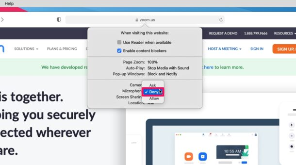 How to Block Microphone & Camera Access on Websites for Mac in Safari