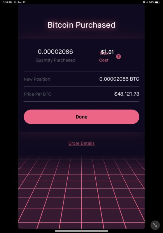Buying Bitcoin on Robinhood