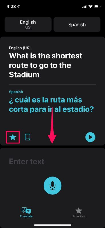 How to Add Translations to Favorites on iPhone & iPad