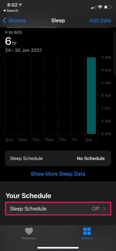 How to Set Up Sleep Schedule on iPhone