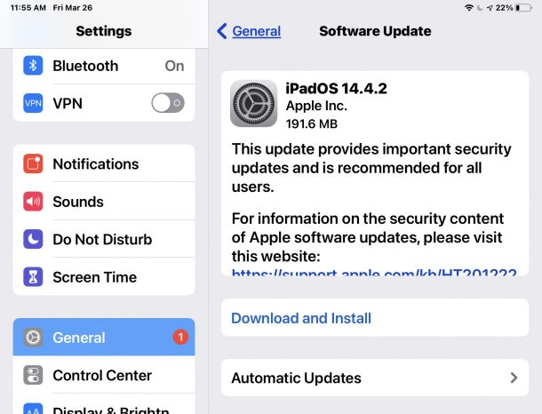 iPadOS 14.4.2 and iOS 14.4.2