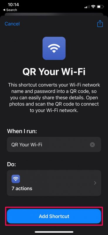 How to Convert Wi-Fi Password Into QR Code on iPhone