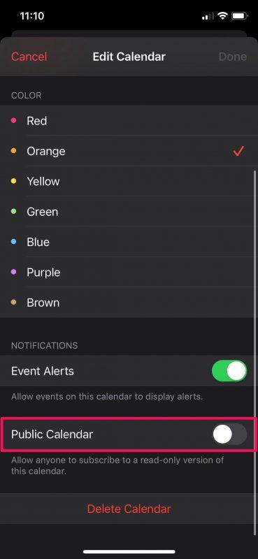 How to Make a Calendar Public on iPhone & iPad