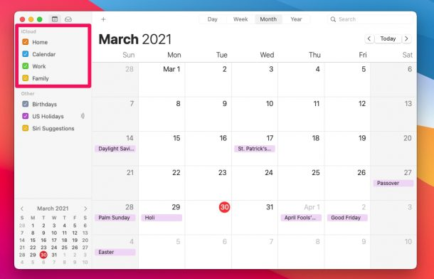 How to Share Calendars from Mac