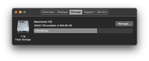 Purgeable Storage space on Mac