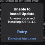 Unable to Install Update - An error Occurred Installing iOS / ipadOS