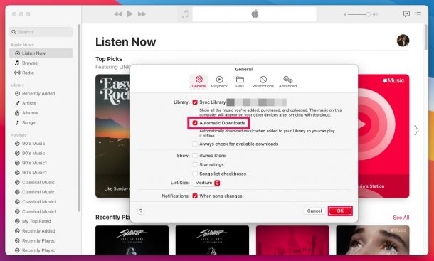 How to Enable Automatic Downloads for Music on Mac