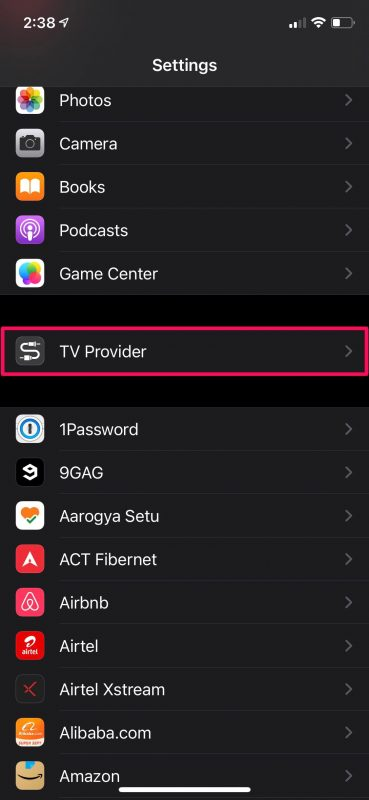 How to Connect TV Provider with iPhone & iPad