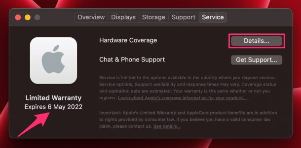 How to Check Warranty & Apple Care+ Status of Your Mac