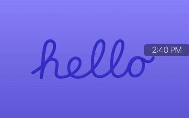 Hello Screensaver on Mac