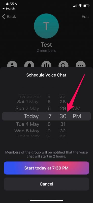 How to Schedule Voice Chats on Telegram
