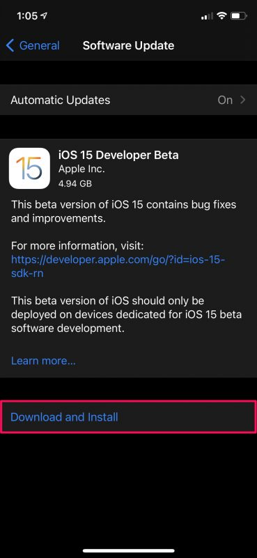 How to Install iOS 15 Developer Beta on iPhone