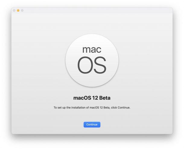 How to install macOS 12 monterey beta