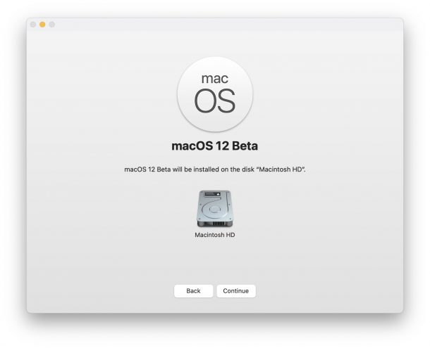 Install macOS 12 Beta