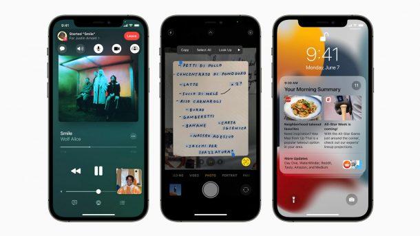 iOS 15 on iPhones