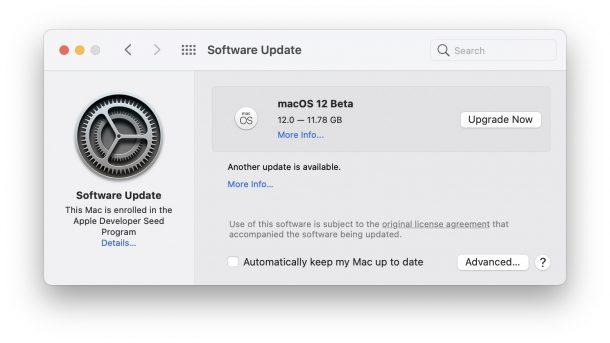 macOS 12 beta download