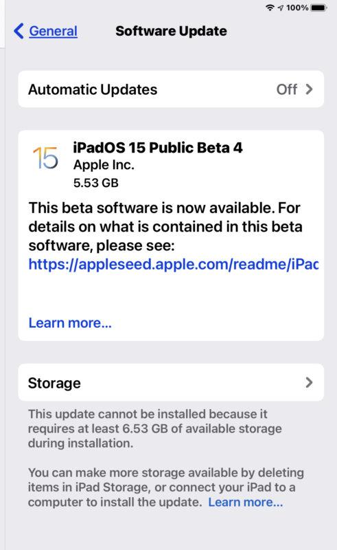iOS 15 public beta 4