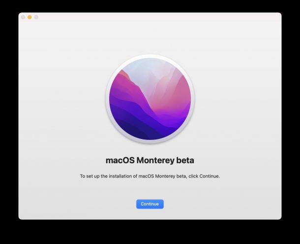 Installing macOS Monterey public beta