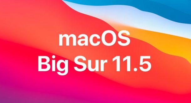 macOS Big Sur 11.5