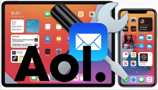 Fix AOL Email problems iPhone and iPad